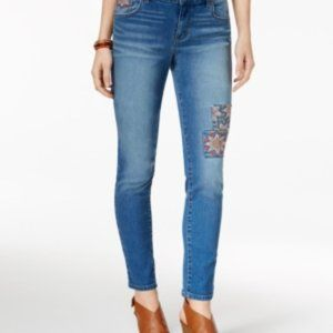 Style & Co Embroidered Skinny Jeans